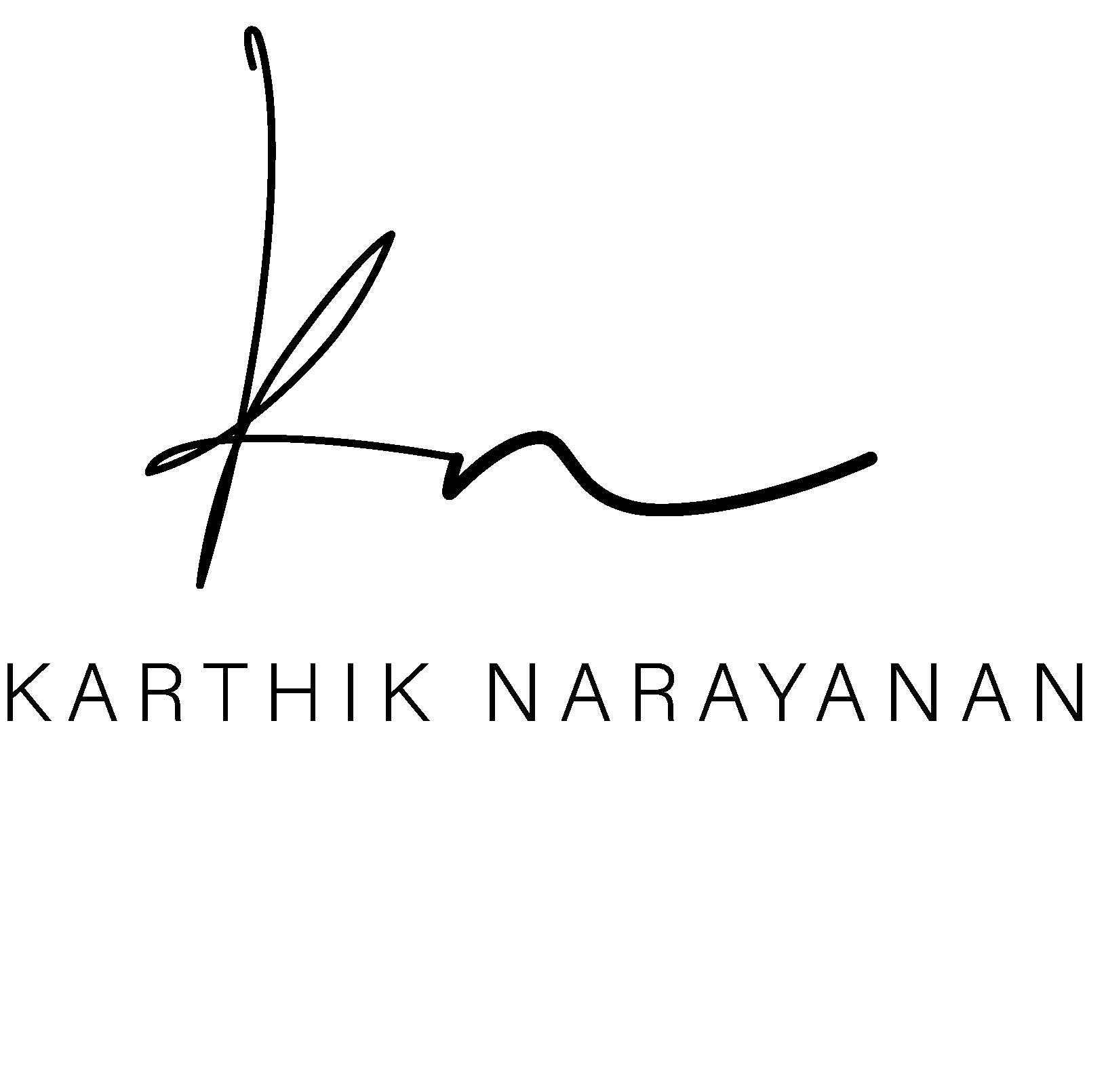 Karthik Narayana BLACK LOGO PNG